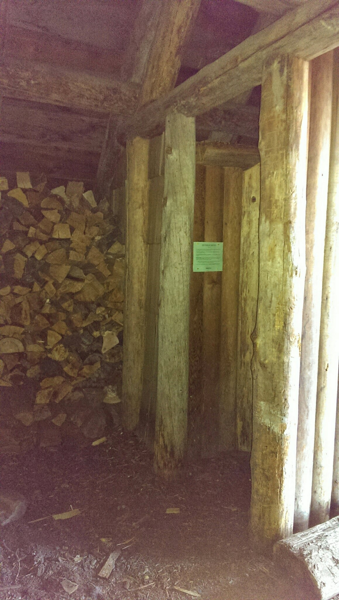 WOOD STORAGE OUTHOUSE ACCESS